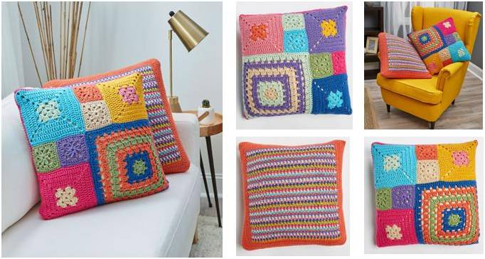 patched persuasion crochet pillows | the crochet space