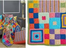 patched persuasion crocheted throw | the crochet space