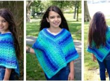 sea glaze crocheted poncho | the crochet space