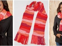 snazzy striped crocheted scarf | the crochet space