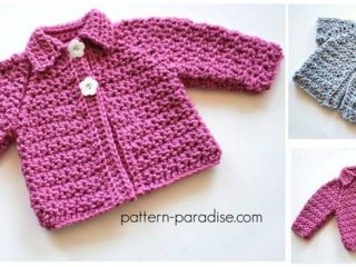 snuggly crochet raglan cardigan | the crochet space