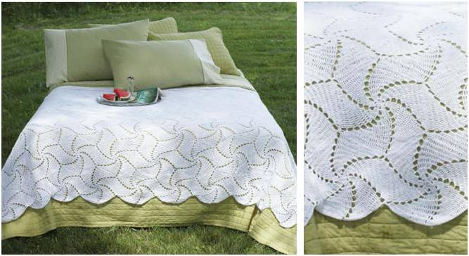 Spinning Wheels Crochet Bedspread Free Crochet Pattern