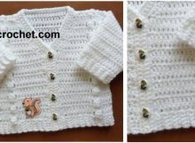 v-neck crocheted cardigan | the crochet space