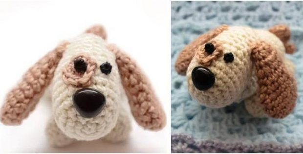 Adorable Crocheted Puppy Free Crochet Pattern