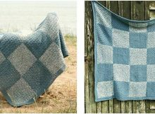 beach denim crocheted blanket | the crochet space