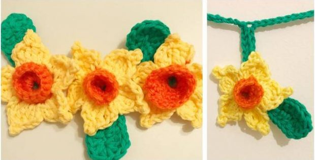 beautiful crocheted daffodil | the crochet space