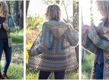 campfire crocheted cardigan | the crochet space