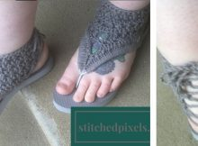 crocheted gladiator flip flop sandals | the crochet space