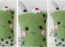 cute milkshake crocheted cuddler | the crochet space