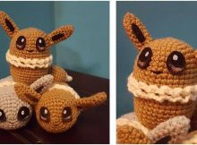 cutesy crocheted Eevee toy | the crochet space
