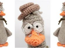 dapper crocheted bespectacled goose | the crochet space