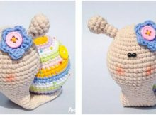 irresistibly cute lady snail crochet toy | the crochet space
