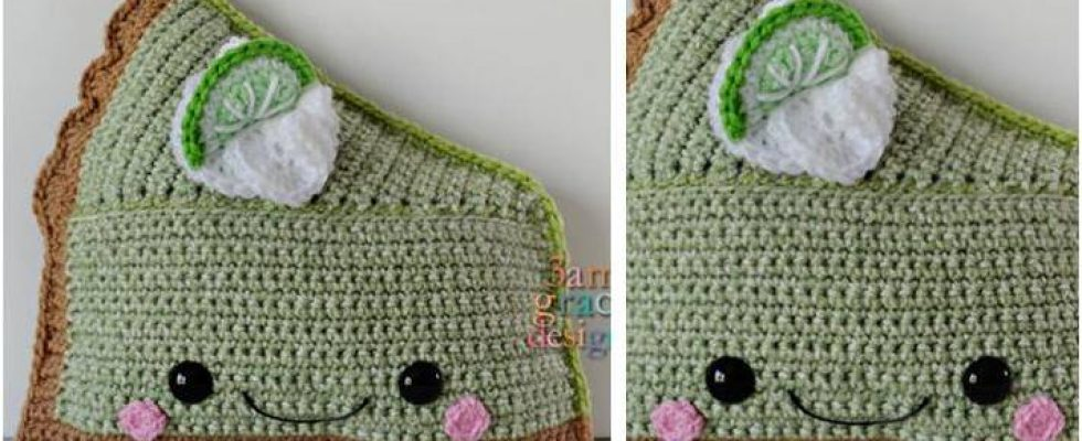 Key Lime Pie Kawaii Crocheted Cuddler [FREE Crochet Pattern]