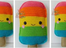 popsicle kawaii crochet cuddler | the crochet space