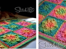 retro illusion crocheted baby blanket   the crochet space