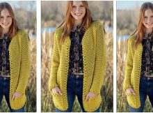 sunshine crocheted cardigan | the crochet space