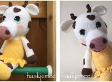 sweetheart crocheted cow | the crochet space