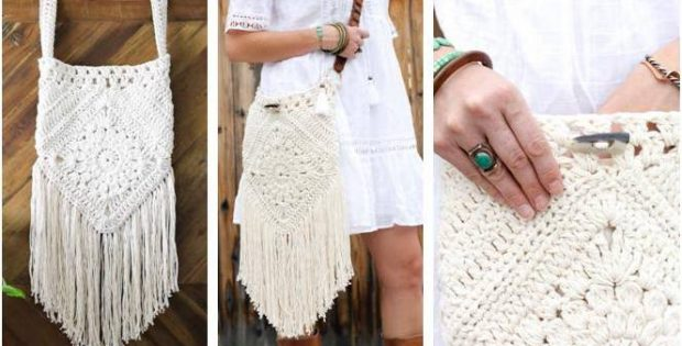 urban gypsy crocheted boho bag | the crochet space