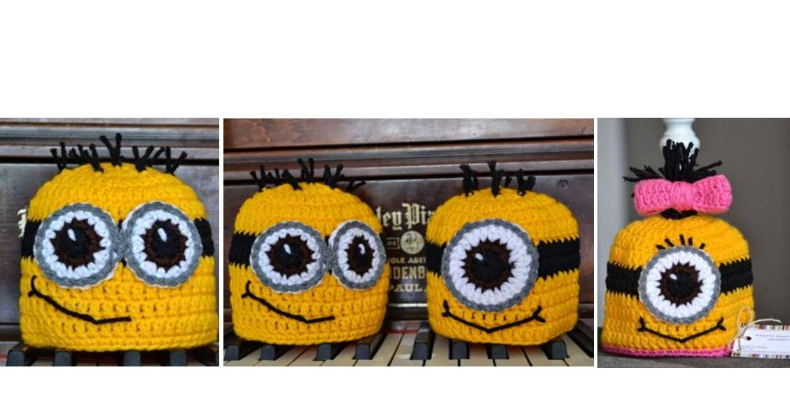 Easy Minions Crochet Hat | thecrochetspace.com