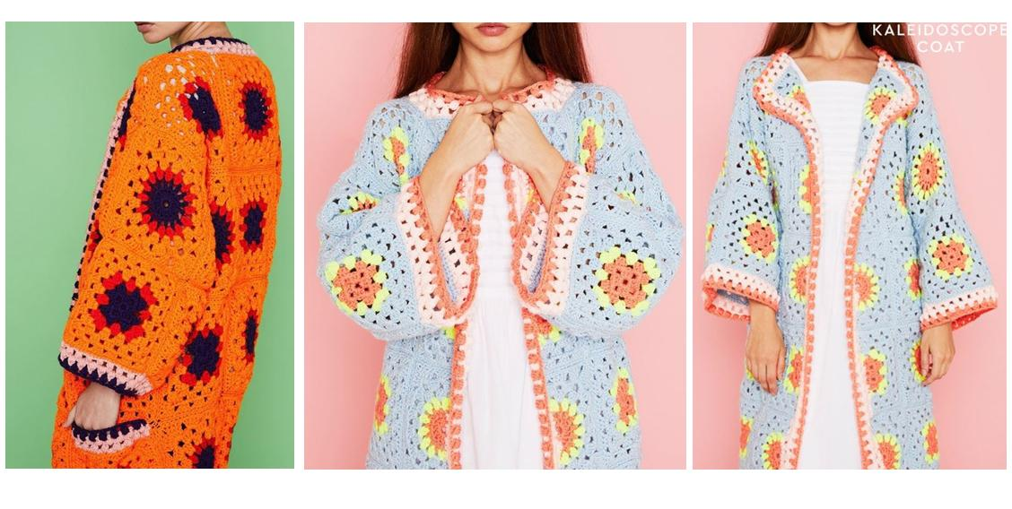 Crocheted Kaleidoscope House Coat | thecrochetspace.com