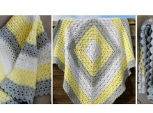 Superbly Simple Crocheted Baby Blanket | thecrochetspace.com