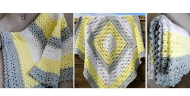 Superbly Simple Crocheted Baby Blanket   thecrochetspace.com