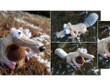 Crocheted Ice Age Scrat | thecrochetspace.com