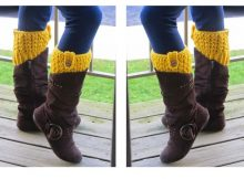 Crocheted Bailey Boot Cuffs | thecrochetspace.com