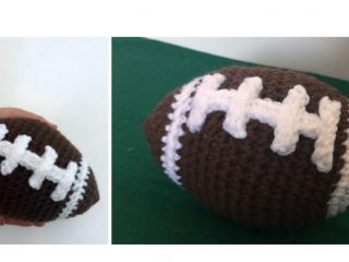 Families First Crocheted Football | thecrochetspace.com