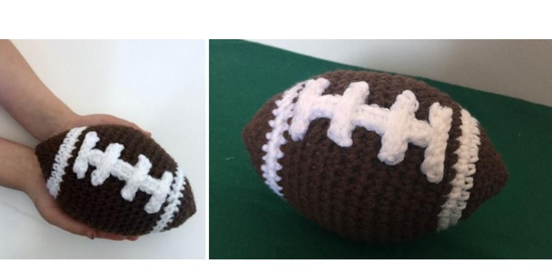 Families First Crocheted Football   thecrochetspace.com