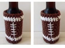 Crocheted Football Bottle Cozy | thecrochetspace.com