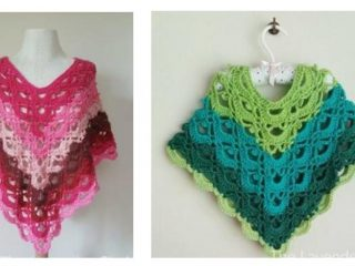 Gemstone Lace Crochet Poncho | thecrochetspace.com