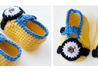 Crocheted Minion Baby Slippers   thecrochetspace.com