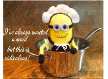 Crocheted Minion French Maid | thecrochetspace.com