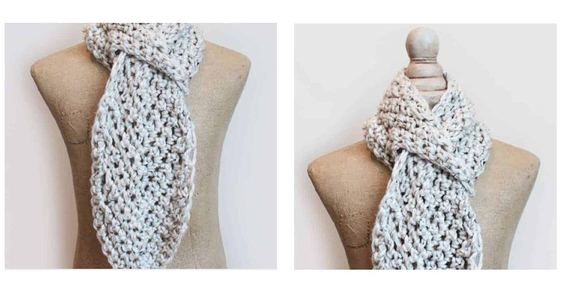 Adele Adjustable Crochet Scarf | thecrochetspace.com