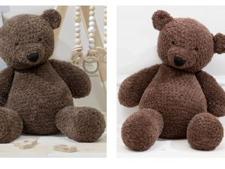 Theodore Crocheted Teddy Bear | thecrochetspace.com