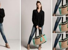 Crocheted Basket Weave Tote | thecrochetspace.com