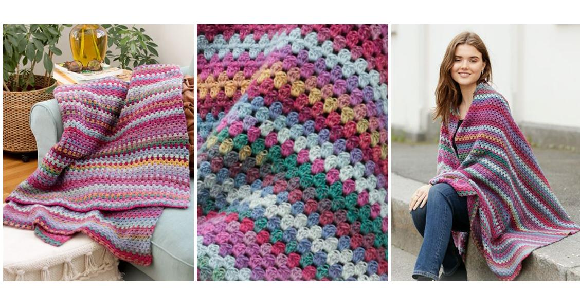 Crocheted True Colors Blanket | thecrochetspace.com
