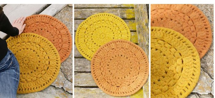 Autumn Sun Crocheted Mats | thecrochetspace.com