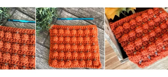 Crochet Pumpkin Patch Stitch | thecrochetspace.com