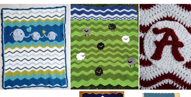 Crocheted Ripple Baby Blanket | thecrochetspace.com