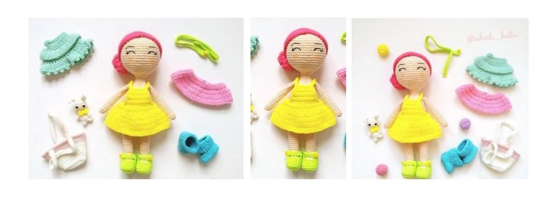 Crocheted Simple Style Doll | thecrochetspace.com