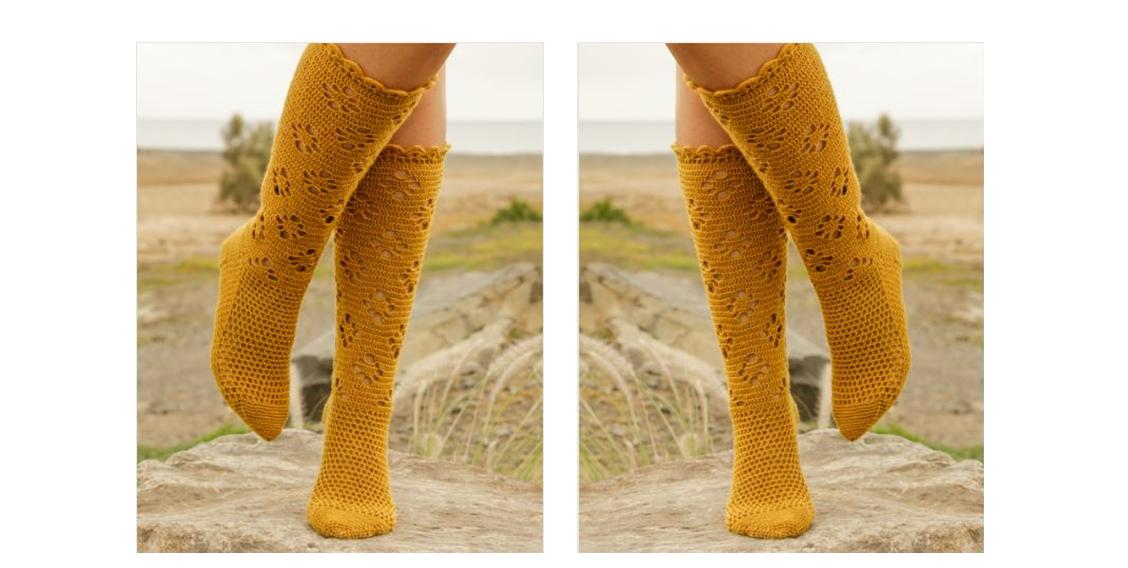 Walking Sunshine Crochet Socks | thecrochetspace.com