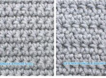 Extended Single Crochet Stitch | thecrochetspace.com