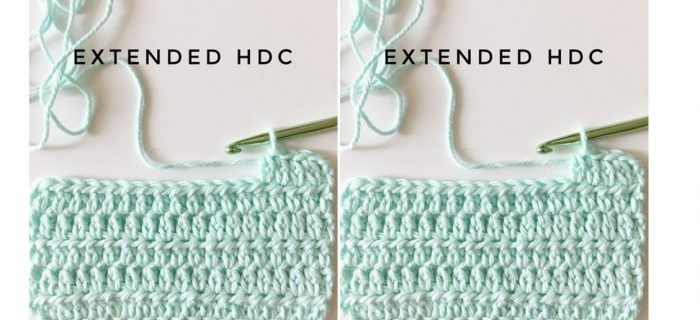 Extended Half-Double Crochet Stitch | thecrochetspace.com
