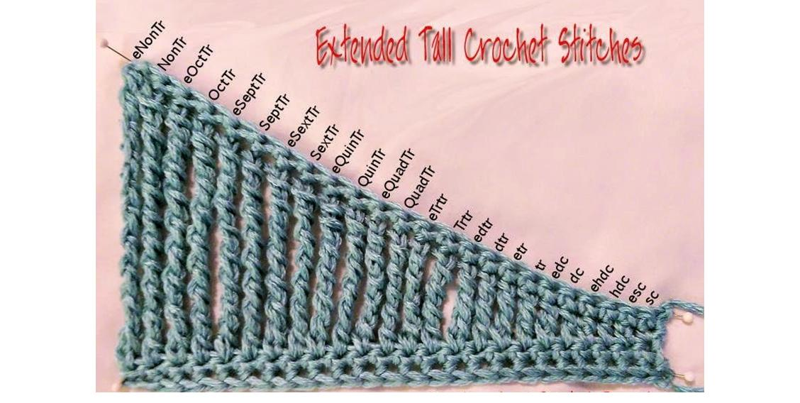 Extended Treble Crochet Stitch | thecrochetspace.com