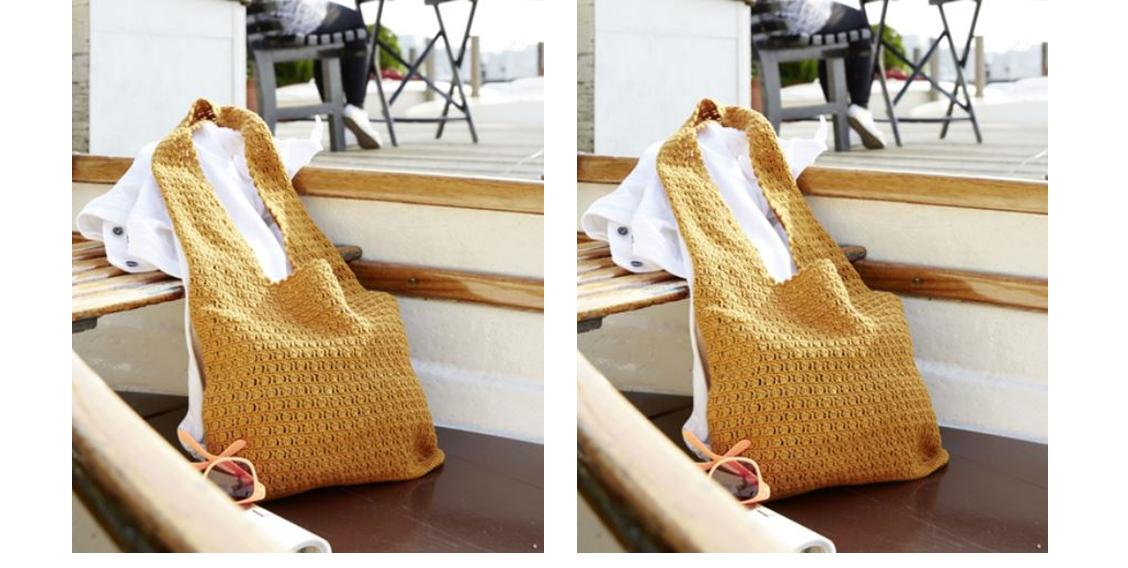 Easy Crochet Shoulder Bag | thecrochetspace.com