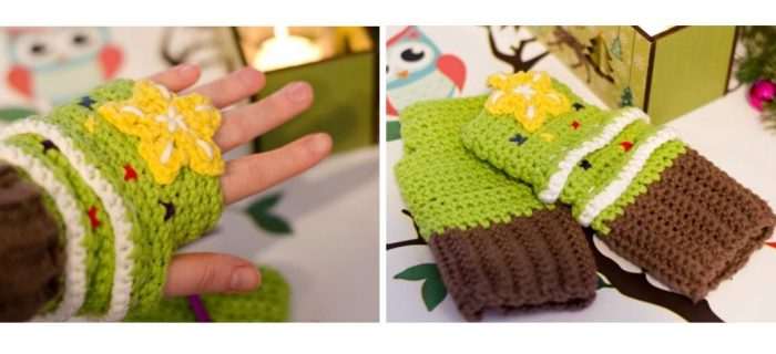 Crocheted Christmas Tree Hand-Warmers | thecrochetspace.com