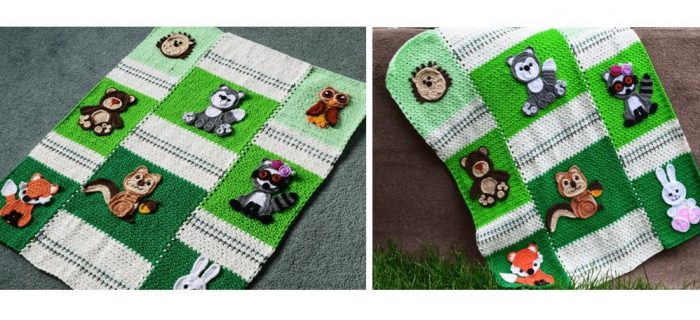 Forest-Friends Crochet Baby Blanket | thecrochetspace.com