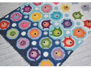 Fish Puzzle Crochet Baby Blanket   thecrochetspace.com